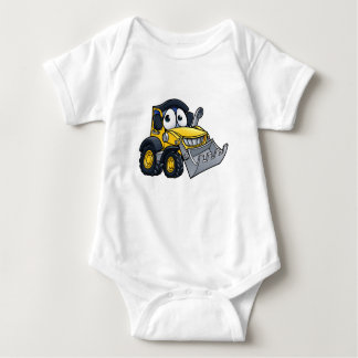 Cartoon Character Digger Bulldozer Baby Bodysuit