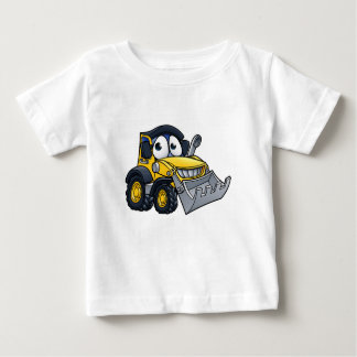 Cartoon Character Digger Bulldozer Baby T-Shirt