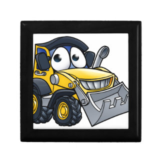 Cartoon Character Digger Bulldozer Gift Box