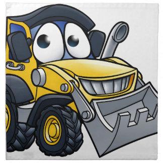 Cartoon Character Digger Bulldozer Napkin