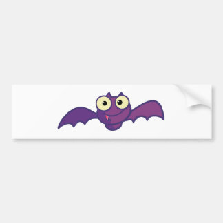 Cartoon Character Halloween Happy Bat Bumper Sticker
