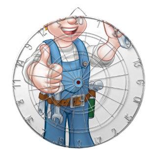 Cartoon Character Plumber or Mechanic Dart Boards