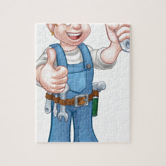 Cartoon Character Plumber or Mechanic Puzzle