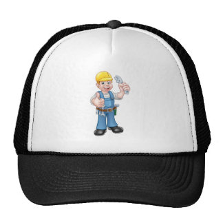 Cartoon Character Plumber or Mechanic Trucker Hat