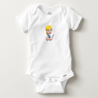 Cartoon Character Plumber Woman Baby Onesie