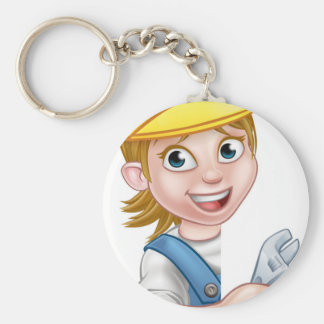 Cartoon Character Plumber Woman Keychain