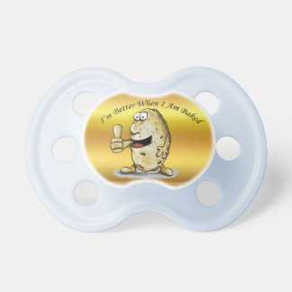 cartoon character potato with big eyes 1 pacifier