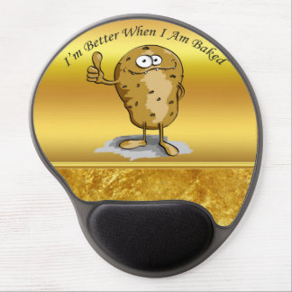 cartoon character potato with big eyes 3 gel mouse pad