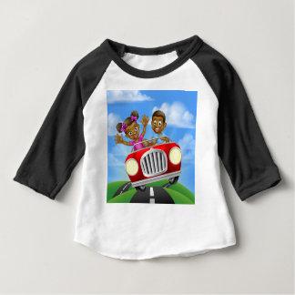 Cartoon Characters Driving Car Baby T-Shirt
