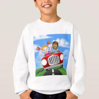 Cartoon Characters Driving Car Sweatshirt