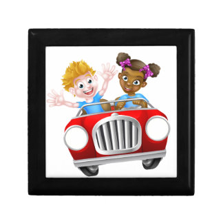 Cartoon Characters Driving Car Trinket Boxes