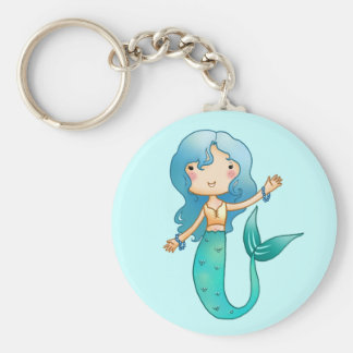 Cartoon Cheerful Mermaid Keychain