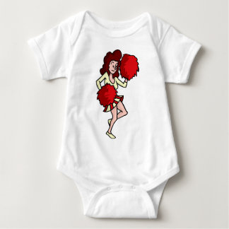Cartoon Cheerleader Girl Baby Bodysuit