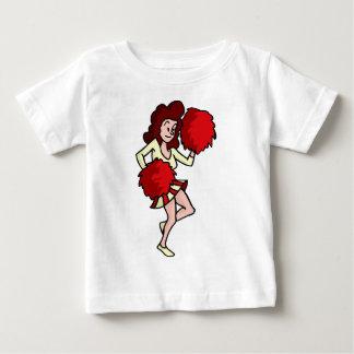 Cartoon Cheerleader Girl Baby T-Shirt