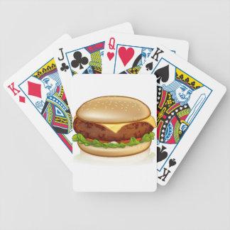Cartoon Cheese Burger Bicycle Playing Cards