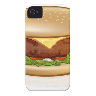 Cartoon Cheese Burger iPhone 4 Cover