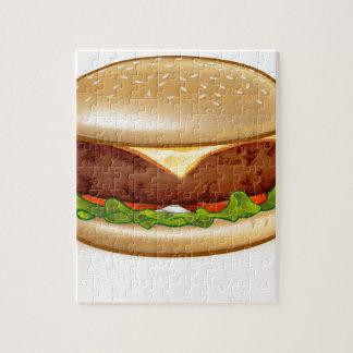 Cartoon Cheese Burger Jigsaw Puzzle