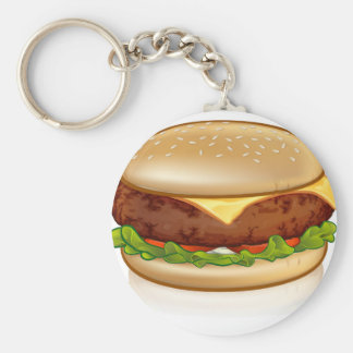 Cartoon Cheese Burger Keychain