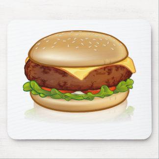 Cartoon Cheese Burger Mouse Pad