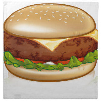 Cartoon Cheese Burger Napkin