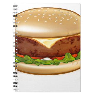Cartoon Cheese Burger Notebook