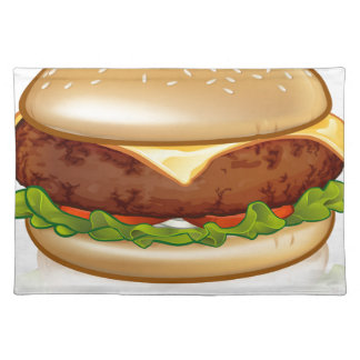 Cartoon Cheese Burger Placemat