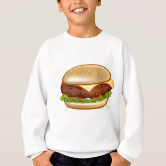 Cartoon Cheese Burger Sweatshirt