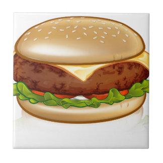 Cartoon Cheese Burger Tile