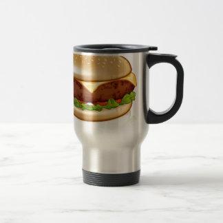 Cartoon Cheese Burger Travel Mug