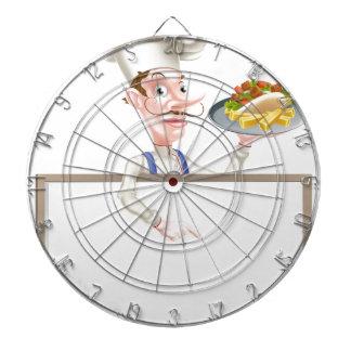 Cartoon Chef Kebab Signboard Dartboard