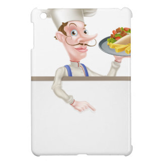 Cartoon Chef Kebab Signboard iPad Mini Cover