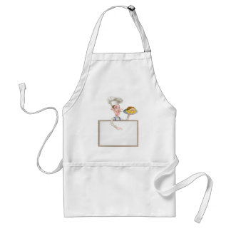 Cartoon Chef Kebab Signboard Standard Apron