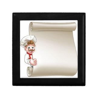 Cartoon Chef Menu Scroll Gift Box