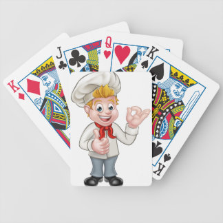 Cartoon Chef or Baker Character Bicycle Playing Cards