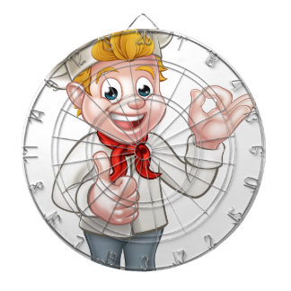 Cartoon Chef or Baker Character Dartboard