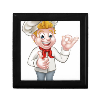 Cartoon Chef or Baker Character Gift Box