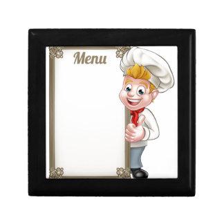 Cartoon Chef or Baker Character Menu Gift Box