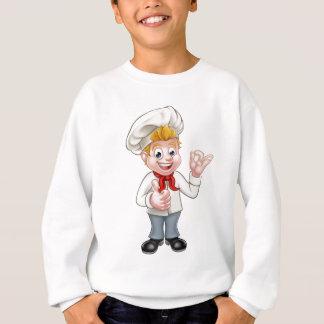 Cartoon Chef or Baker Character Sweatshirt