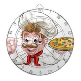 Cartoon Chef Pizza Dartboard