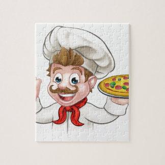 Cartoon Chef Pizza Jigsaw Puzzle