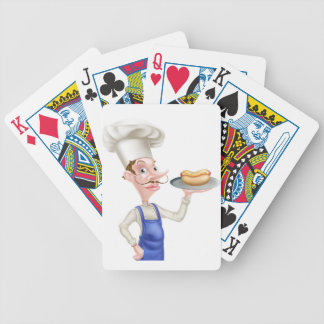 Cartoon Chef With Hot Dog Bicycle Playing Cards
