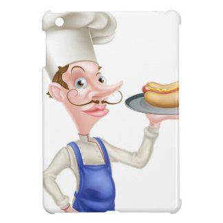 Cartoon Chef With Hot Dog iPad Mini Covers