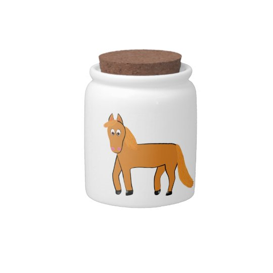 Cartoon Chestnut Horse Candy Dish