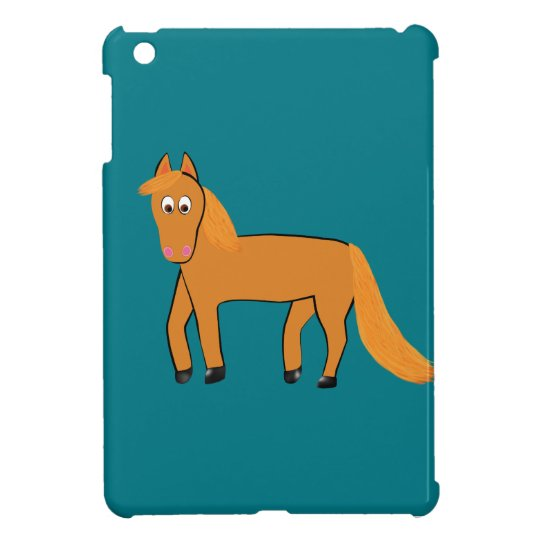 Cartoon Chestnut Horse Case For The iPad Mini
