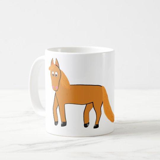 Cartoon Chestnut Horse Coffee Mug