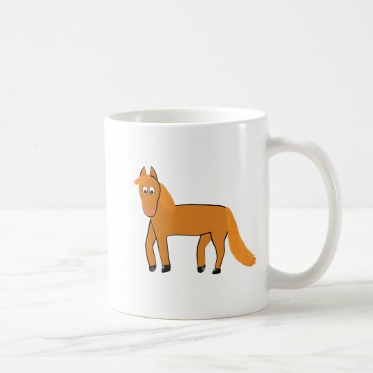 Cartoon Chestnut Horse Coffee Mug