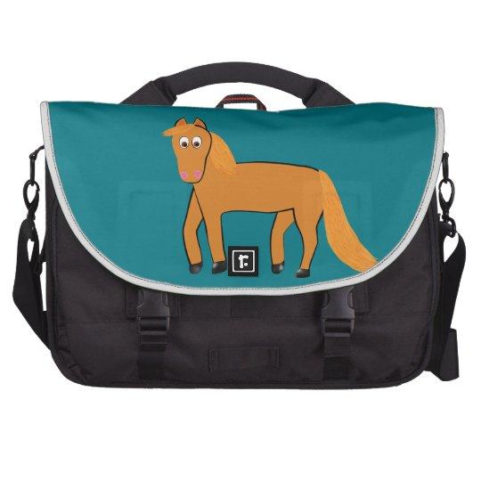 Cartoon Chestnut Horse Commuter Bags