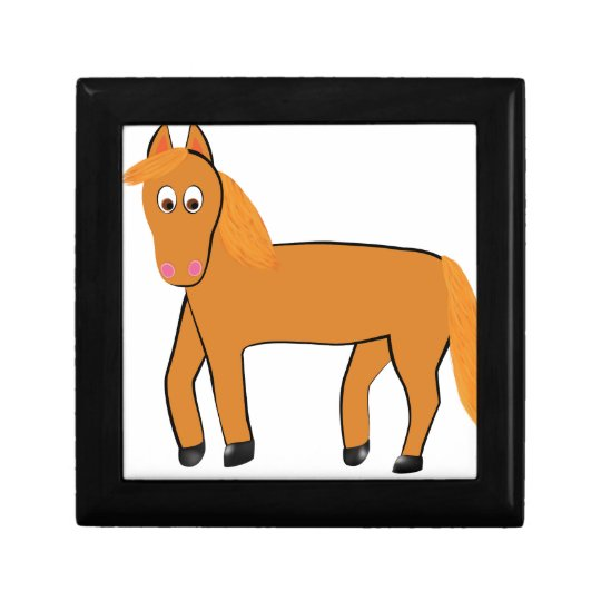 Cartoon Chestnut Horse Jewelry Boxes
