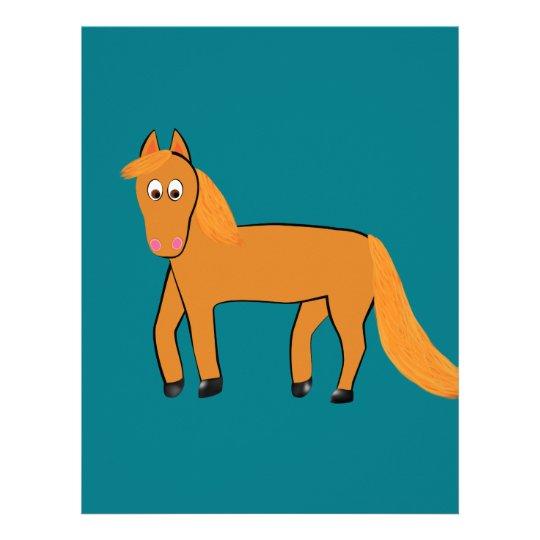 Cartoon Chestnut Horse Letterhead