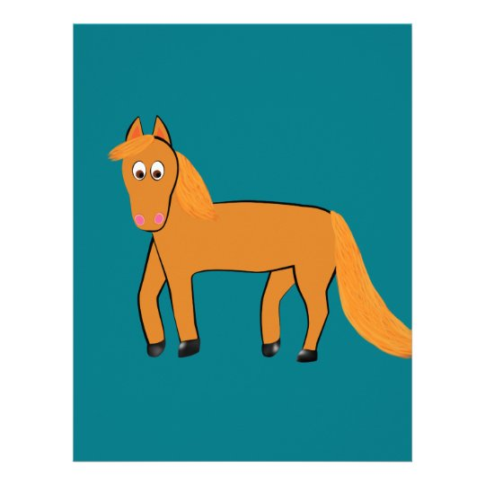 Cartoon Chestnut Horse Personalized Letterhead